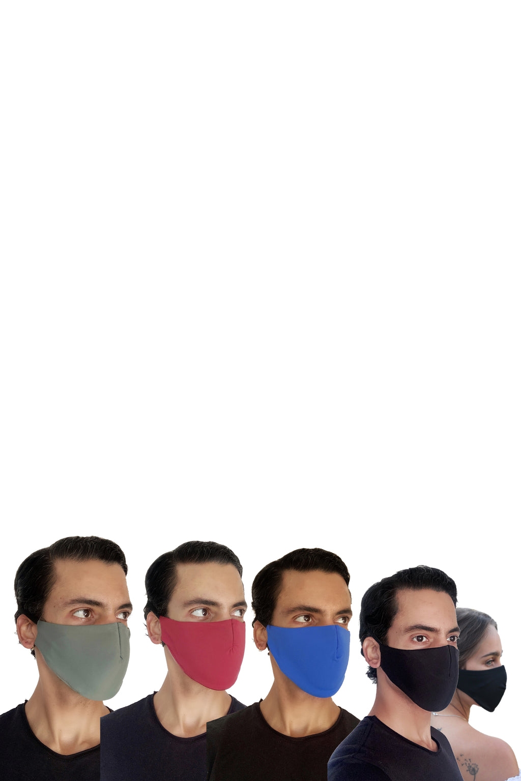 Reusable, 3-Layer, Padded Colour Facemask (Pack of 3)