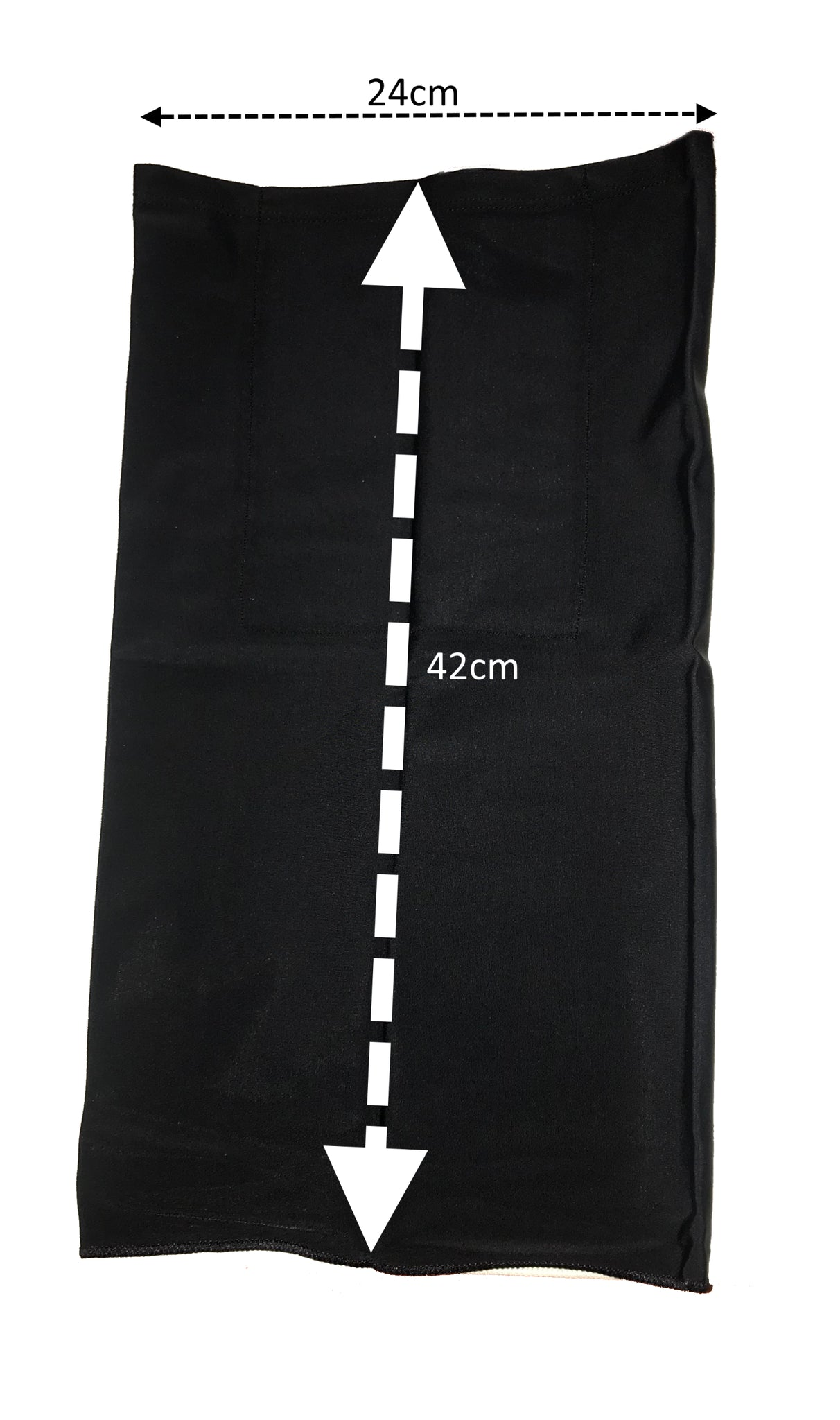 Black Face-buff with Pocket - Pack of 2
