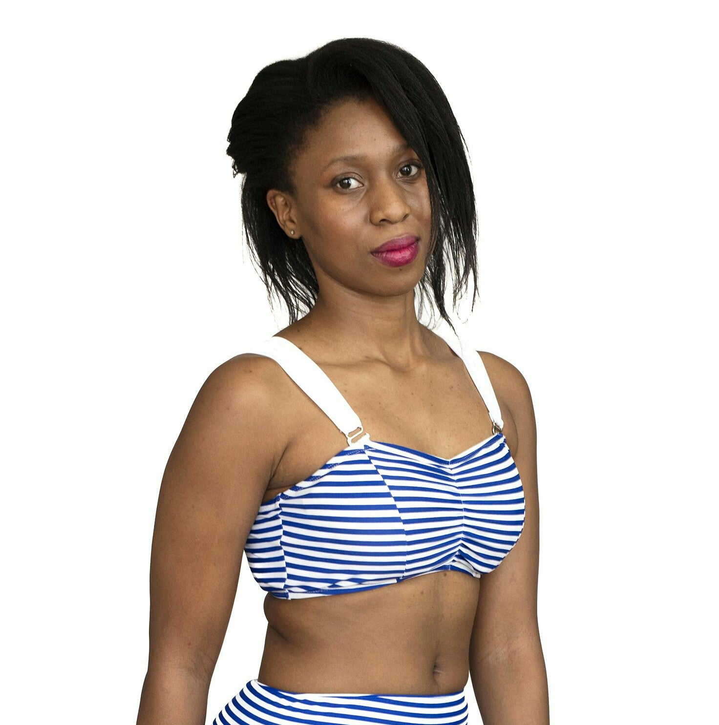 Bandeaux Bra - Blue & White Stripes