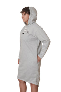 LLYLA Hooded Sweatshirt Dress with Side Pockets