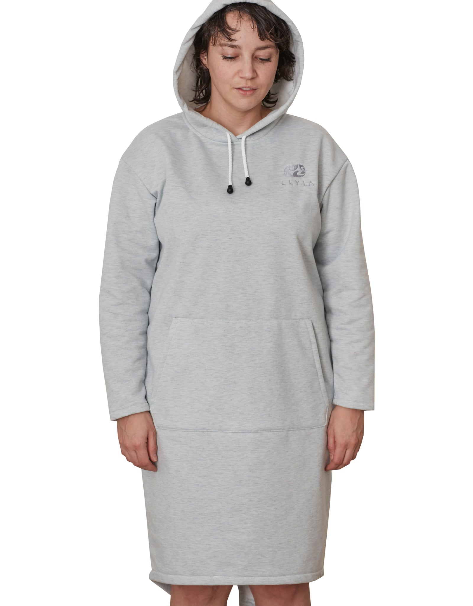 LLYLA Sweatshirt/Hoodie Front Pocket Dress