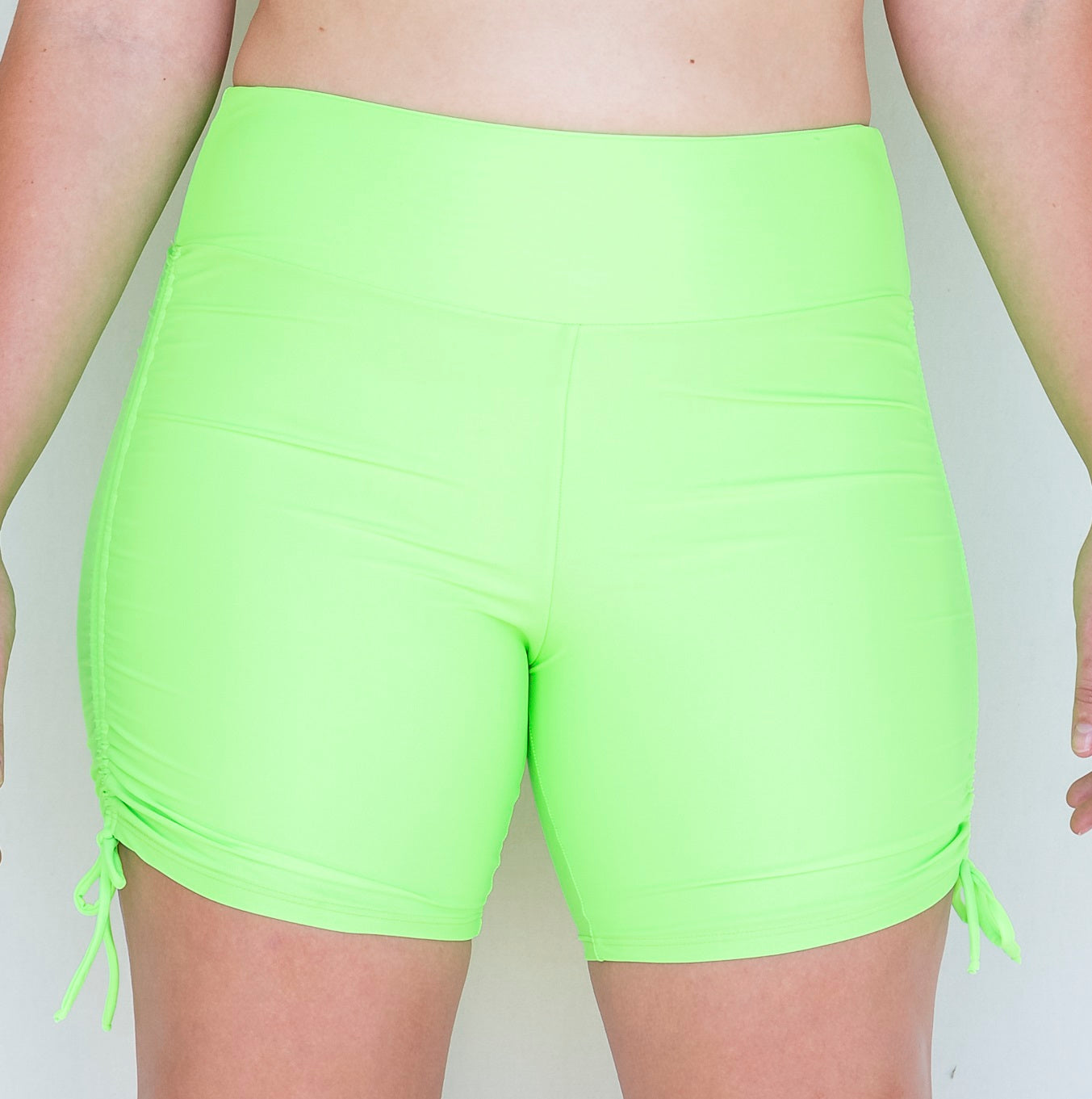 Wide Waist, Ruched, Swim/Yoga Short (Multiple Colours)