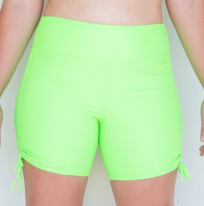 Wide Waist, Ruched, Swim/Yoga Short