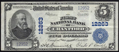 1902 $5 Cranford NJ National Bank Note | Buying | Selling