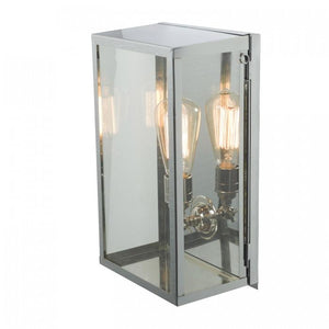 Davey Lighting Lighting Box Wall Light: Internal Glass: Medium: Satin Nickel: Clear Glass By Davey Lighting