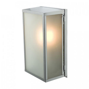 Davey Lighting Lighting Box Wall Light: Internal Glass: Medium: Satin Nickel: Frosted Glass By Davey Lighting
