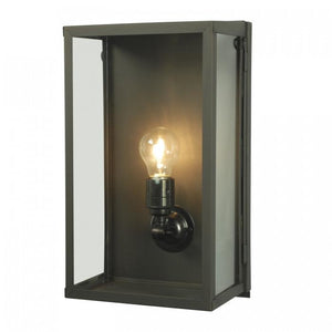 Davey Lighting Lighting Box Wall Light: Internal Glass: Medium: Weathered Brass: Clear Glass By Davey Lighting