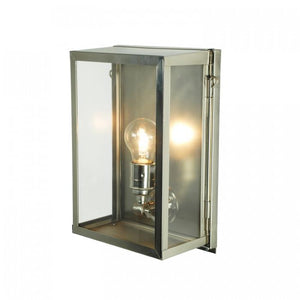 Davey Lighting Lighting Box Wall Light: Internal Glass: Small: Satin Nickel: Clear Glass By Davey Lighting