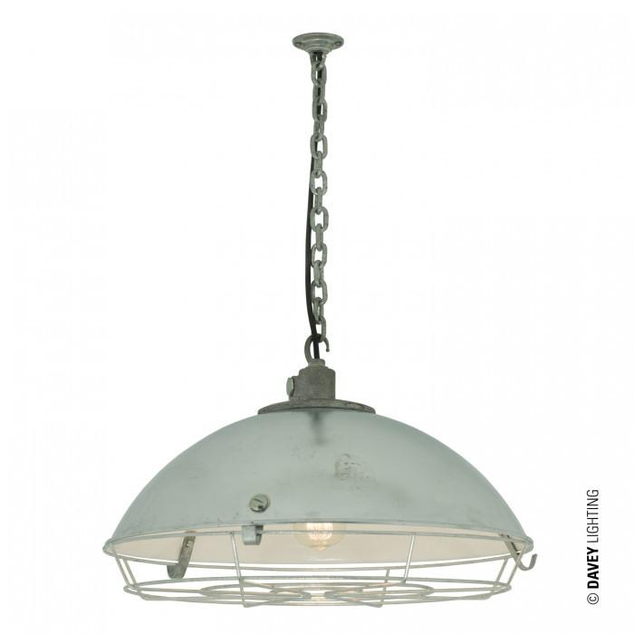 Davey Lighting Lighting Cargo Cluster Light With Protective Guard: 1XE27: Galvanised By Davey Lighting