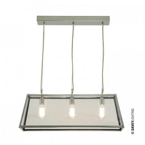 Davey Lighting Lighting Diner: Internally Glazed: 75: Satin Nickel: Clear Glass By Davey Lighting