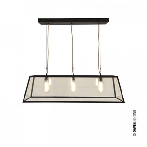 Davey Lighting Lighting Diner: Internally Glazed: 75: Weathered Brass: Clear Glass By Davey Lighting