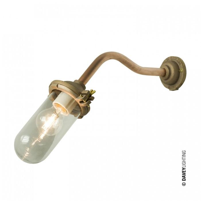 Davey Lighting Lighting Exterior Bracket Light: No Ref: Canted: Round: Gunmetal: Clear Glass By Davey Lighting