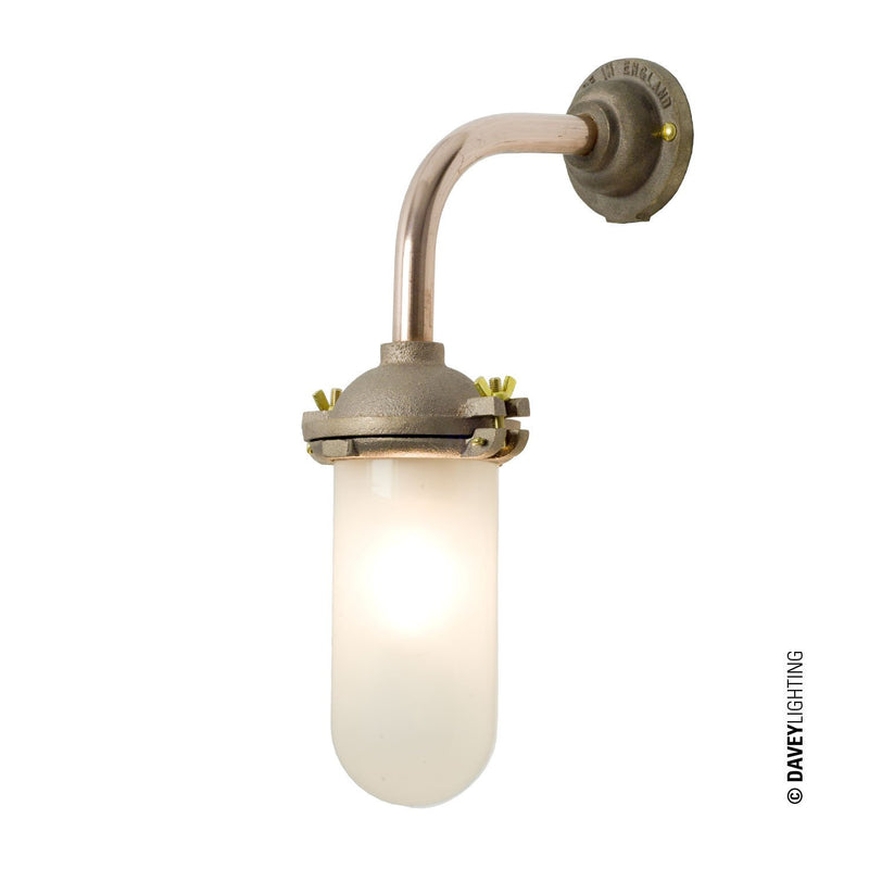 Davey Lighting Lighting Exterior Bracket Light: No Ref: Canted: Round: Gunmetal: Frosted Glass By Davey Lighting