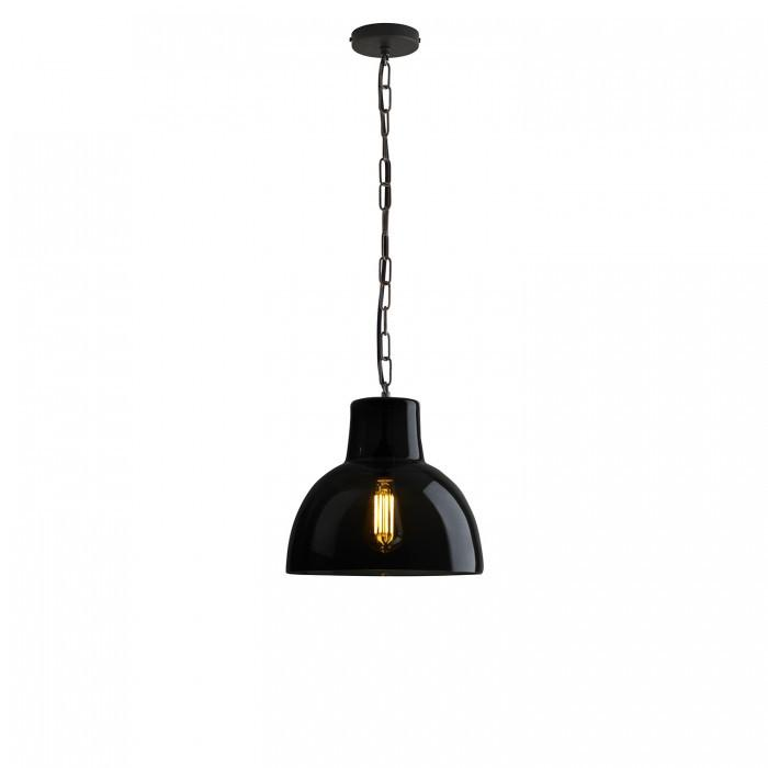 Davey Lighting Lighting Glass York Pendant: Size 2: Anthracite And Weathered Brass By Davey Lighting