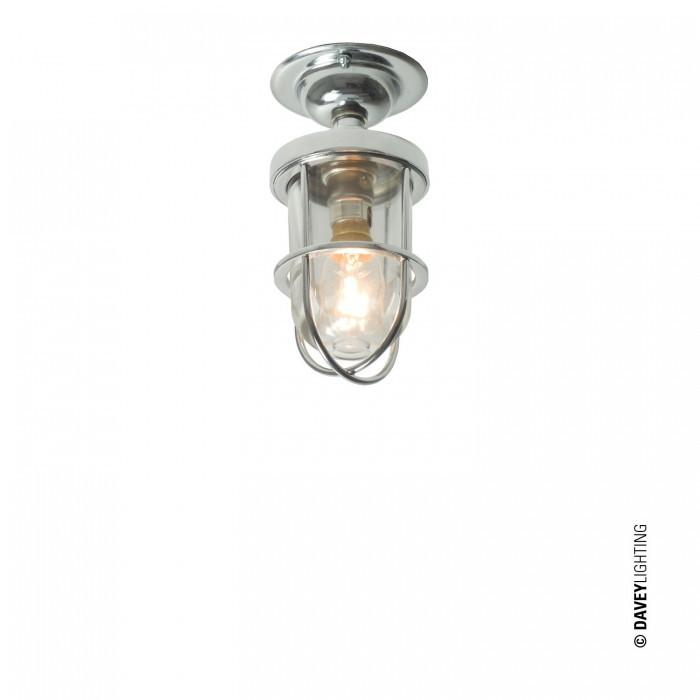 Davey Lighting Lighting Miniature Ship's Well Glass Ceiling: Chrome: Clear Glass By Davey Lighting