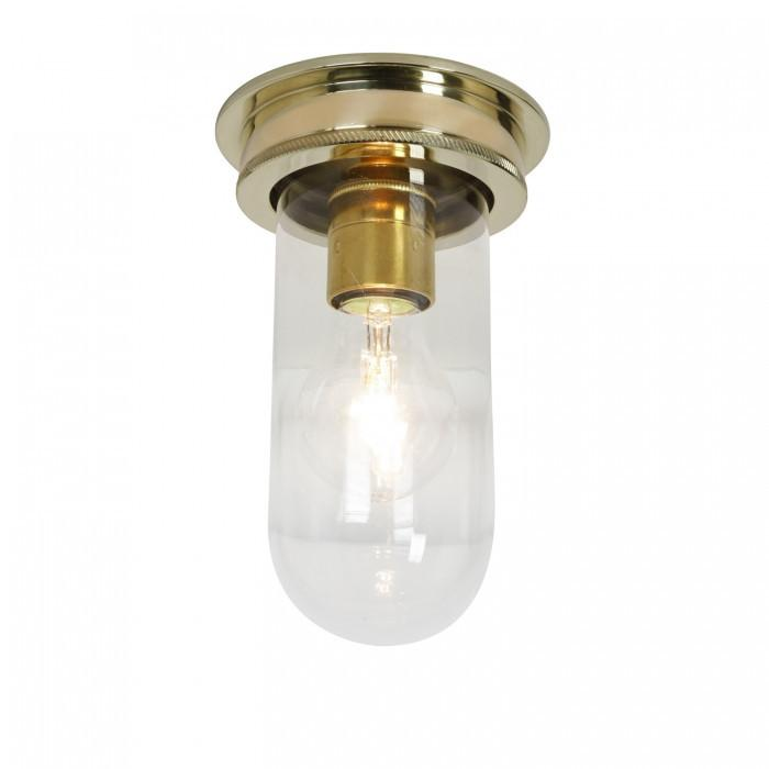 Davey Lighting Lighting Ship's Companionway Light: Polished Brass: Clear Glass By Davey Lighting