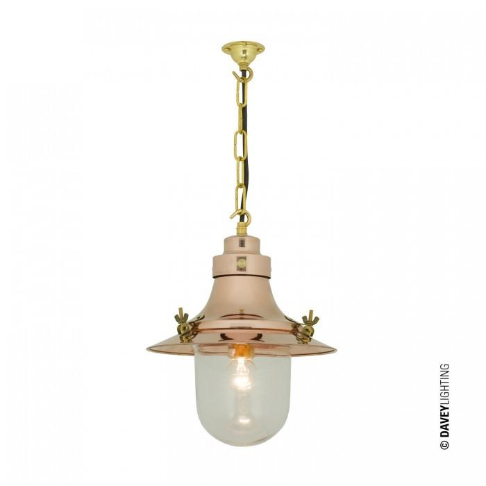 Davey Lighting Lighting Ship's Small Decklight: Polished Copper: Clear Glass By Davey Lighting