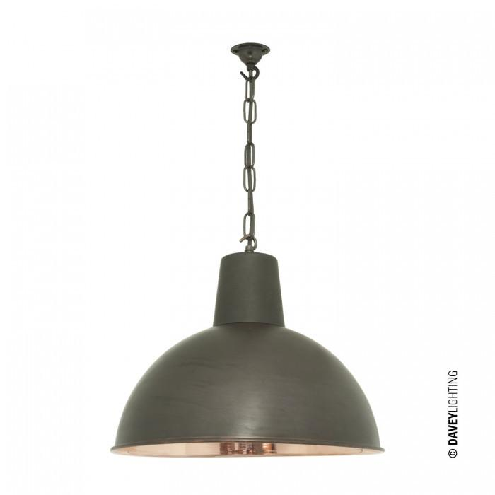 Davey Lighting Lighting Spun Reflector: Medium: Weathered Copper: Polished Copper Interior By Davey Lighting