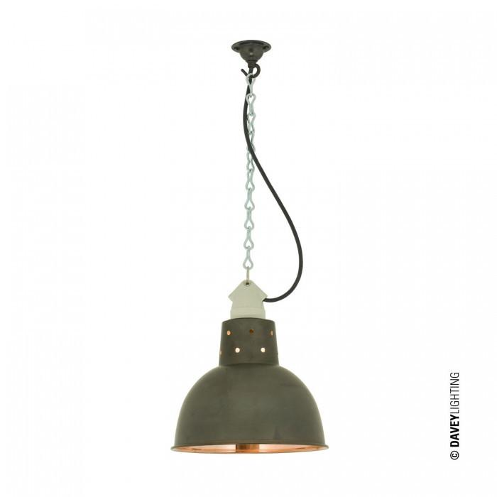 Davey Lighting Lighting Spun Reflector With Suspension Lampholder: Weathered Copper/Polished Copper By Davey Lighting