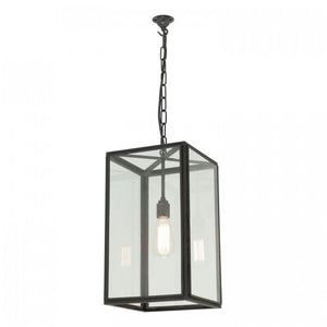 Davey Lighting Lighting Square Pendant: External Glass: Weathered Brass: Clear Glass By Davey Lighting