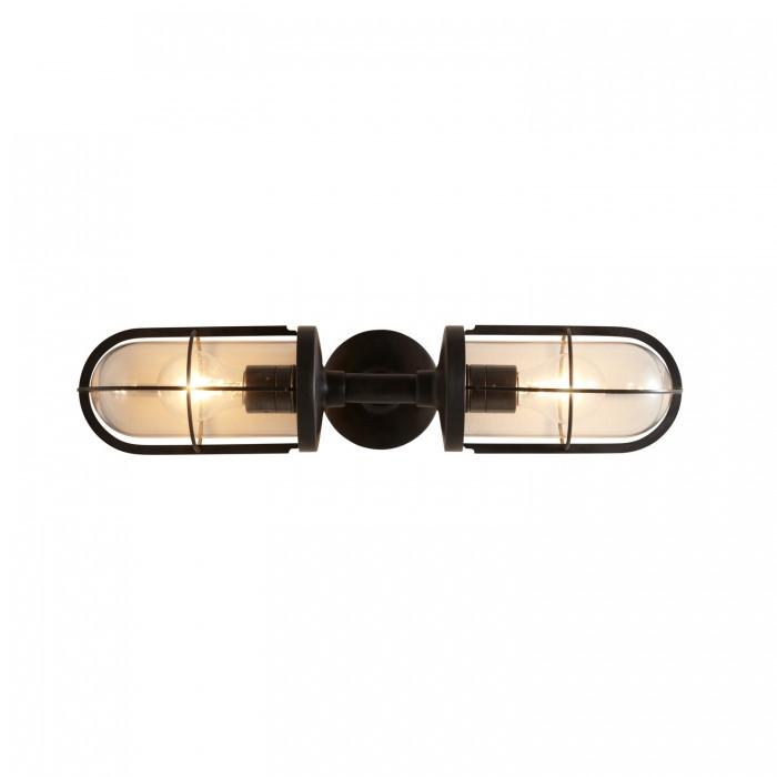 Davey Lighting Lighting Weatherproof Ship's Double Well Glass: Weathered Brass: Clear Glass By Davey Lighting
