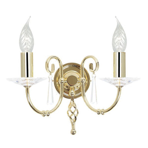 Elstead Lighting Lighting Aegean 2lt Wall Light Polished Brass by Elstead Lighting
