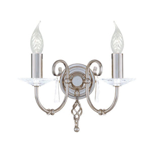 Elstead Lighting Lighting Aegean 2lt Wall Light Polished Nickel by Elstead Lighting