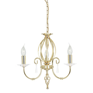Elstead Lighting Lighting Aegean 3lt Chandelier Polished Brass by Elstead Lighting