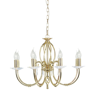 Elstead Lighting Lighting Aegean 8lt Chandelier Polished Brass by Elstead Lighting