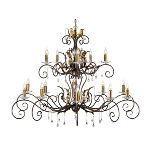 Elstead Lighting Lighting Amarilli 15lt Chandelier Bronze by Elstead Lighting