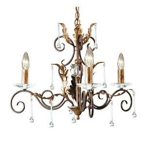 Elstead Lighting Lighting Amarilli 3lt Chandelier Bronze/Gold by Elstead Lighting