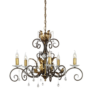 Elstead Lighting Lighting Amarilli 5lt Chandelier Bronze/Gold by Elstead Lighting