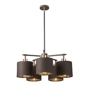 Elstead Lighting Lighting Balance 5lt Chandelier by Elstead Lighting
