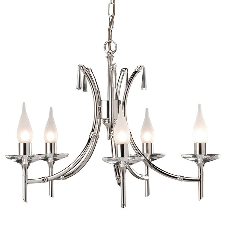 Elstead Lighting Lighting Brightwell 5lt Chandelier by Elstead Lighting
