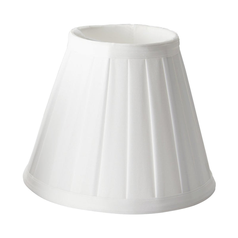 Elstead Lighting Lighting Clip Shades Pleated White Candle Shade by Elstead Lighting