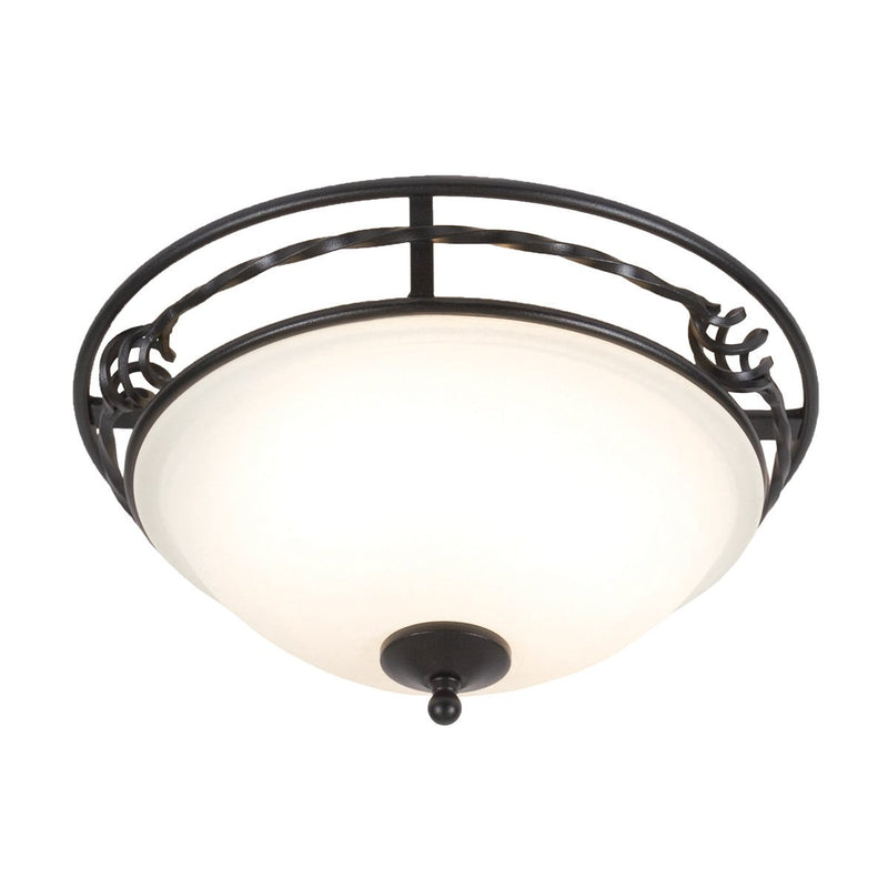 Elstead Lighting Lighting Pembroke Flush A Black by Elstead Lighting