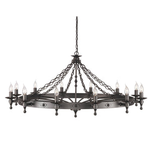 Elstead Lighting Lighting Warwick 12lt Chandelier Graphite by Elstead Lighting