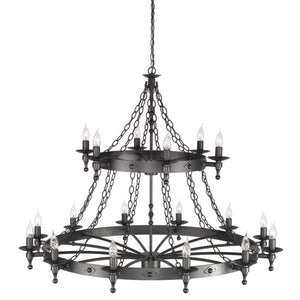 Elstead Lighting Lighting Warwick 18lt Chandelier Graphite by Elstead Lighting