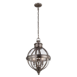 Feiss Lighting Adams 3lt Pendant Chandelier by Feiss