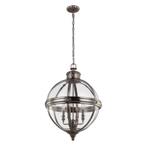 Feiss Lighting Adams 4lt Pendant Chandelier by Feiss