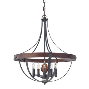 Feiss Lighting Alston 5lt Chandelier by Feiss