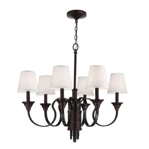 Feiss Lighting Arbor Creek 6lt Chandelier by Feiss