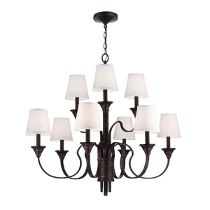 Feiss Lighting Arbor Creek 9lt Chandelier by Feiss