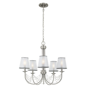 Feiss Lighting Aveline 5lt Chandelier by Feiss
