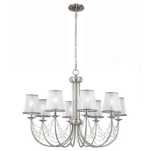 Feiss Lighting Aveline 8lt Chandelier by Feiss