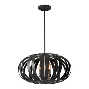 Feiss Lighting Woodstock 4lt Medium Chandelier by Feiss