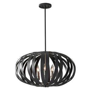Feiss Lighting Woodstock 6lt Large Chandelier by Feiss