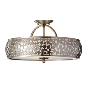 Feiss Lighting Zara Semi-Flush Light by Feiss