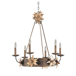 Flambeau Lighting Simone 6lt Chandelier by Flambeau