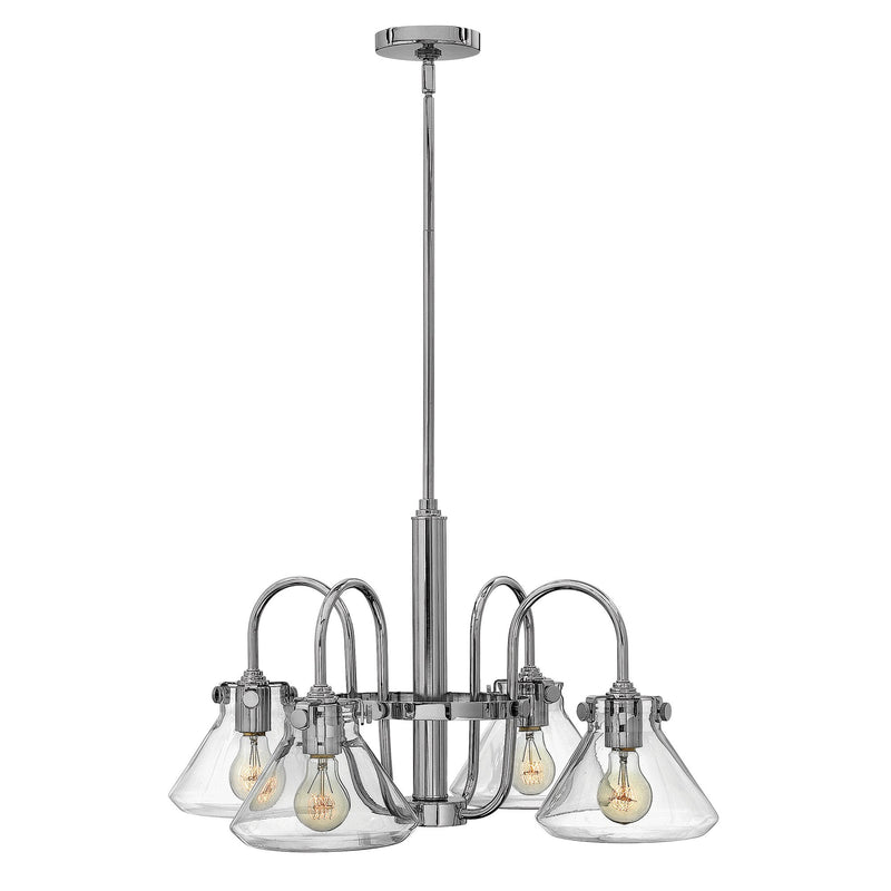 Hinkely Lighting Lighting Congress Clear Glass Chandelier Chrome by Hinkely Lighting